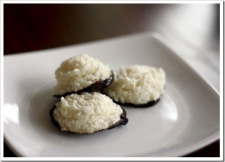 Dark Chocolate-Dipped Coconut Macaroons