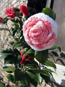 A Rose for Mother – Bath Pouf