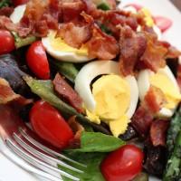 BELT Salad (BLT with Egg) With Roasted Asparagus