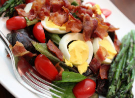 BELT Salad (BLT with Egg) With Roasted Asparagus