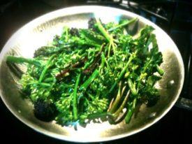 Broccolini and my New! Pan!