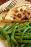 Chicken Quesadillas with Green Beans