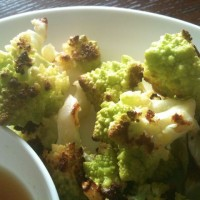 Crispy Skin Chicken Thighs and Roasted Cauliflower