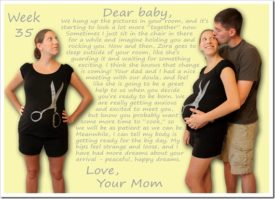 Dear Baby – Week 35 love note to my fetus