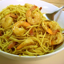 Garlic Lemon Pasta and Shrimp