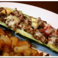 Greek Stuffed Zucchini Boat Recipe