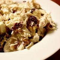 Healthy Cranberry Walnut Chicken Salad