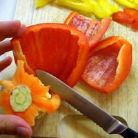 How to Cut a Bell Pepper the Easy Way