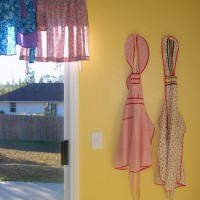 How to display your apron collection, or part of it anyway