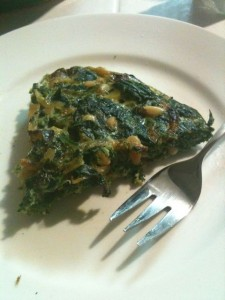 I ate! Spinach Frittata Thing