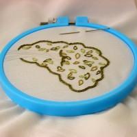 In Progress – Hedgehog Embroidery