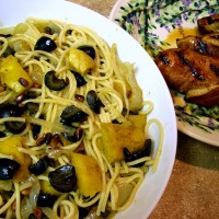 Lovely Chicken and Winter Squash Pasta