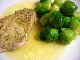 Packet Lemon Pepper Pork and Brussels Sprouts