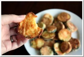 "Parmesan Crusted Baked ""Fried"" Zucchini"