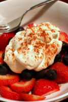 Red, White, and Yum – Berries and Cream with Cinnamon