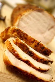 Roasted Turkey Breast with Dijon Balsamic Veggies