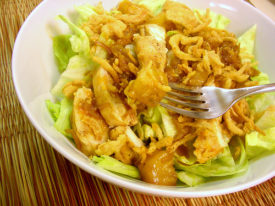 Sommer's Easy Mandarin Chicken (over Salad)