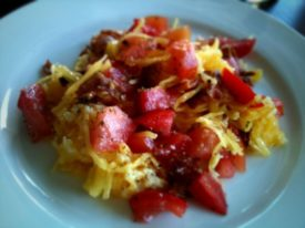Spaghetti Squash Bacon Thing
