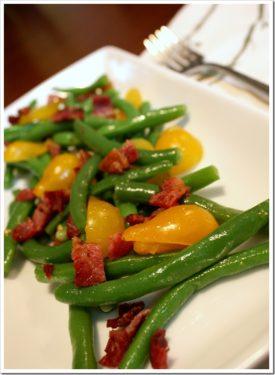 Summer Green Bean Tomato Bacon Salad
