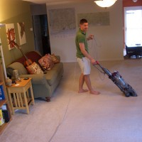 This is why my husband vacuums