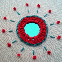 Tutorial: Indian Shisha (mirror) Embroidery