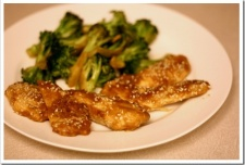 Peanut Chicken and Tangy Broccoli