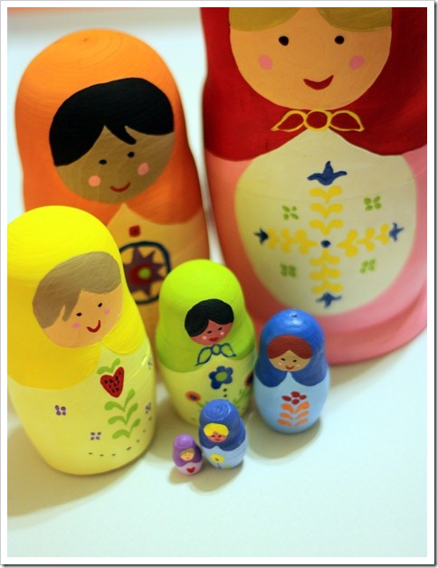 handmade gifts for toddlers and preschoolers - hand-painted matryoshka dolls