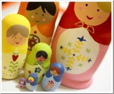 Handmade Christmas–Part 4: Hand-painted Rainbow Matryoshka Nesting Dolls
