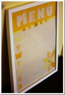 DIY Dry-Erase Menu Planning Board – Embellished Fabric