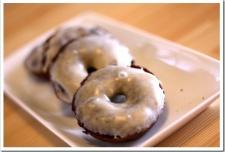 Grain-Free Chocolate Cake Donuts with Vanilla Bean Glaze