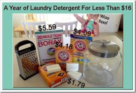A Year of Laundry Detergent for Less Than $16 !