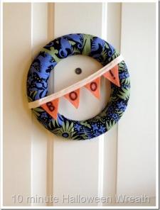 Quick Halloween Wreath–BOO!
