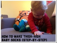 How to Make Thigh-High Baby Socks: Step-By-Step Tutorial