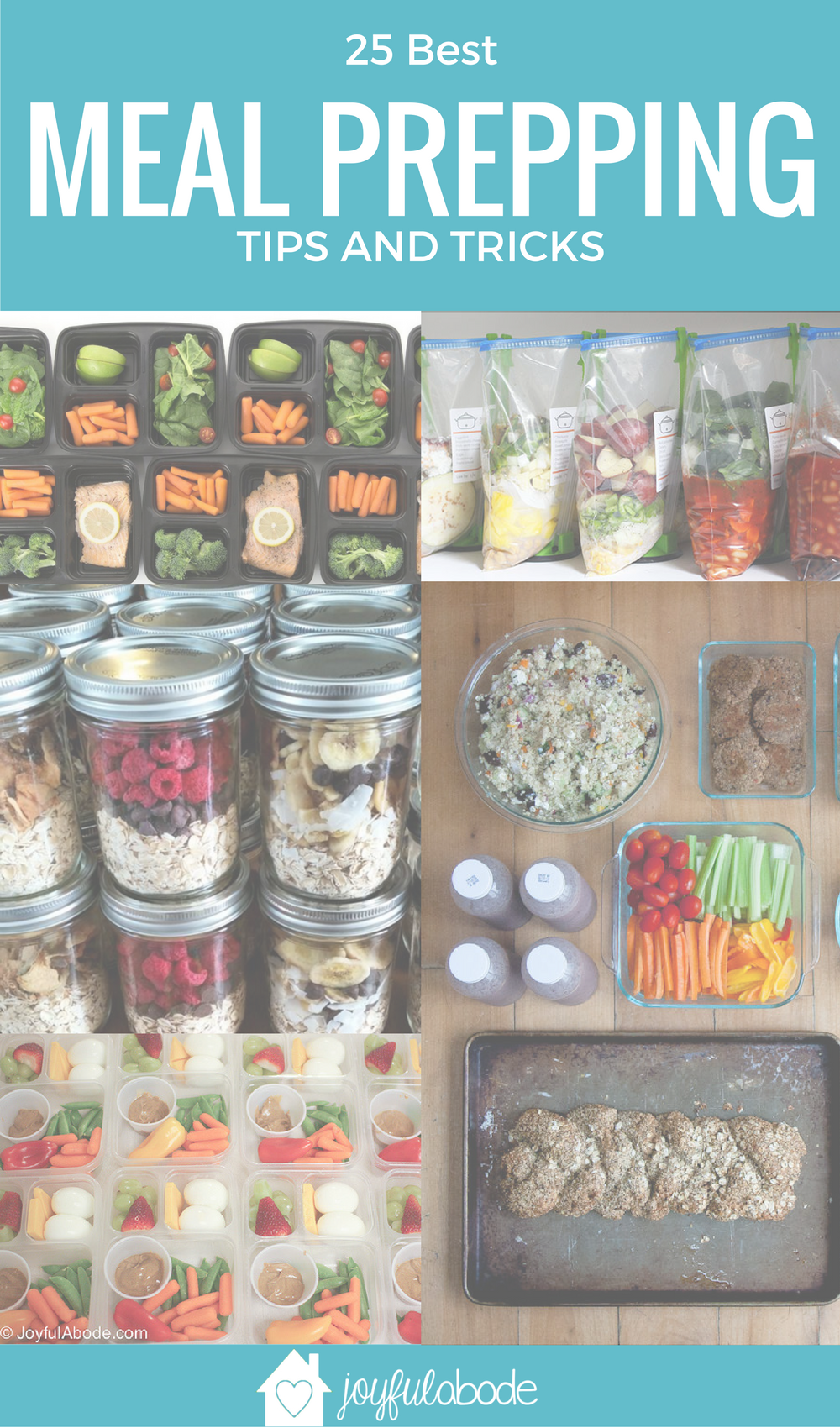 Plan ahead, and you'll plan for success. Here are 25 of the best meal prepping tips on the internet. Learn new tricks for food planning and make-ahead meals!
