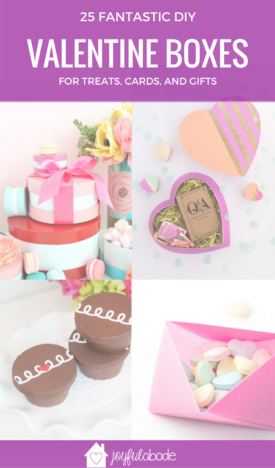 25 fantastic and clever DIY Valentine Boxes for gifts, treats, cards, and candy on Valentine's Day.