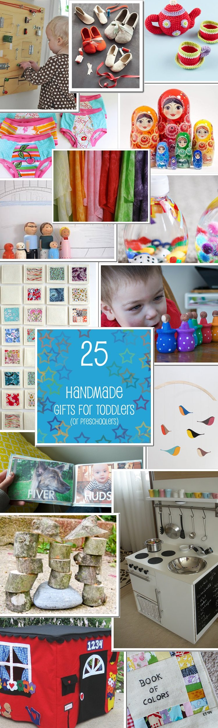 25 handmade gifts to make for toddlers or preschoolers - this is an awesome list with links to all of the tutorials!