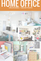 Does your home office need a decor reboot? What about an organizational overhaul? Here are 25 amazingly inspirational home offices, so you can plan your next move on your own! Tons of organizing tips and decor ideas for home offices.