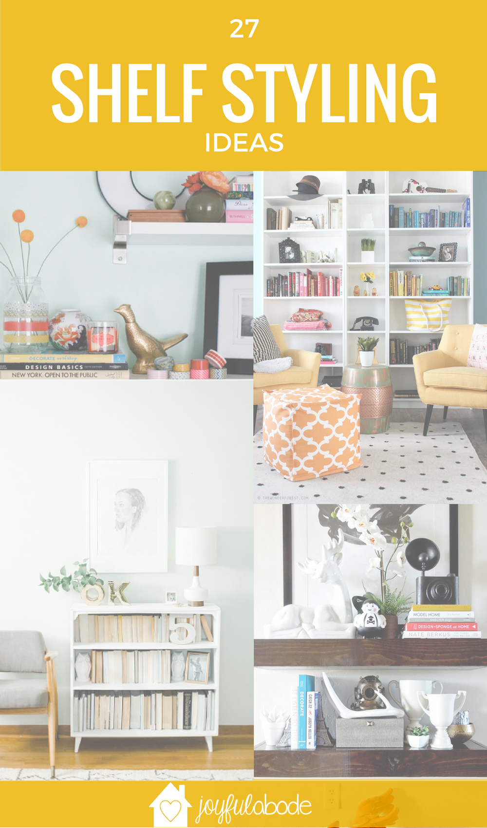 Want to know how to style a book shelf? Here are 27 ideas, tips, and inspiration posts to get you started with your bookcase styling. From tricks to make your books even more beautiful to tips about organizing your trinkets and decor, you're going to love this post!
