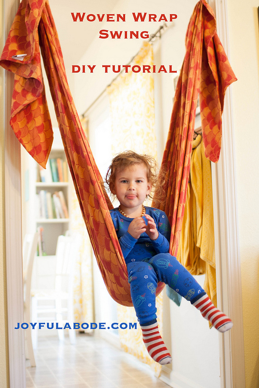 Woven Babywearing Wrap Swing - what a fun indoor winter activity!