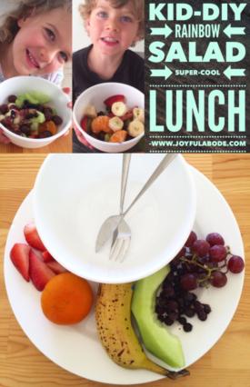 Signing Time Kid-DIY Rainbow Salad Super-Cool Lunch for Preschoolers - Montessori Homeschool Lesson