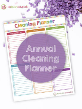 Use this free cleaning planner printable to make a cleaning routine that works for you each day, week, month, and year.