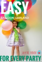 How to make the easiest balloon garland ever, for decorations for every party. Birthdays, baby showers, bridal showers, and more.