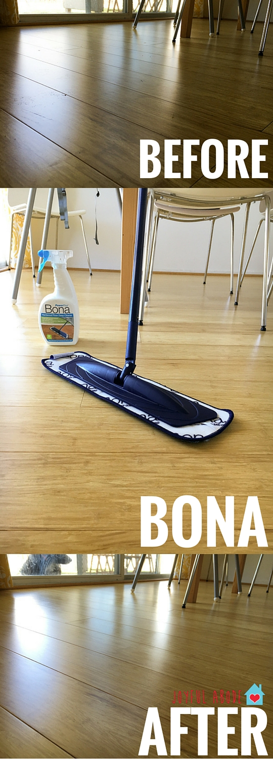 Bona is great for cleaning my wood floors every day - easy and effective.