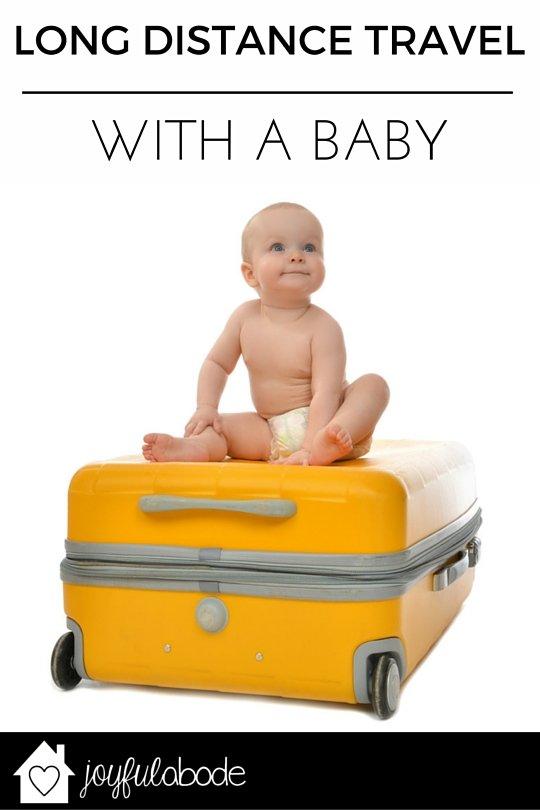 Long-distance travel with a newborn or baby - how to do it and what you actually need to bring. No frills.