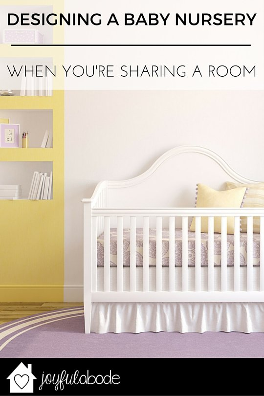 How to design a baby nursery when you're sharing a room - making space for your new baby in the master bedroom.