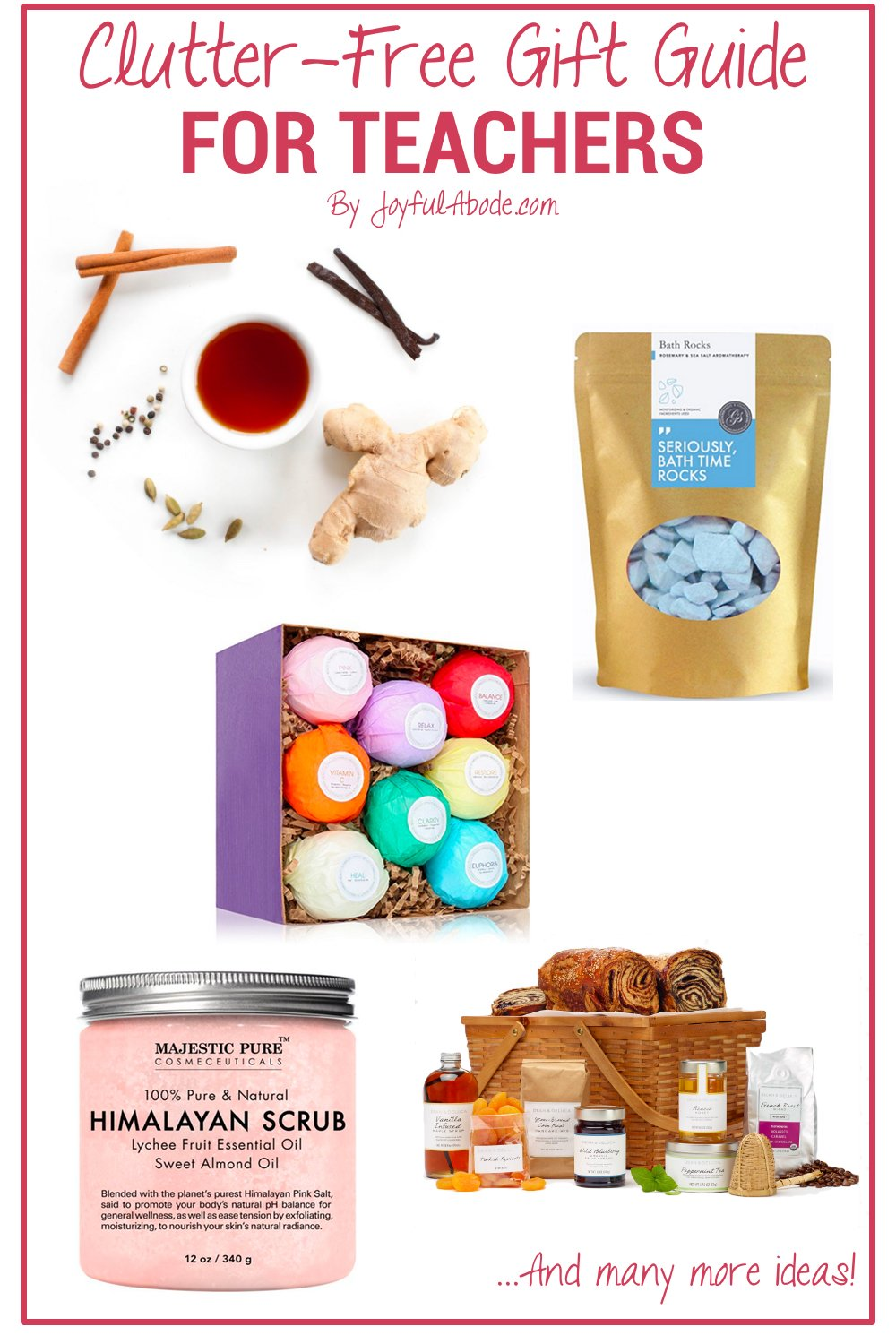 Looking for some great clutter-free gift ideas for your kids' teachers? This is a great guide to get you started!