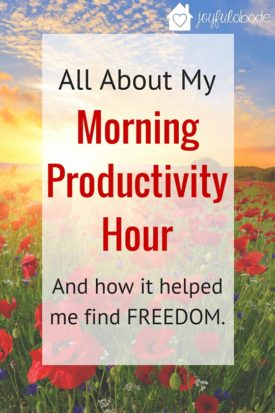 How and Why I started a morning productivity hour, and how it helped me find FREEDOM. Every homemaker needs this in her life.