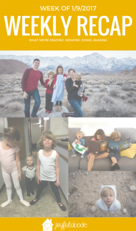 Ballet and tap lessons have started, we explored a really beautiful area and took family pictures, we recommend this week's books, and more! Just a packed-full week in the life of a mom-blogger.