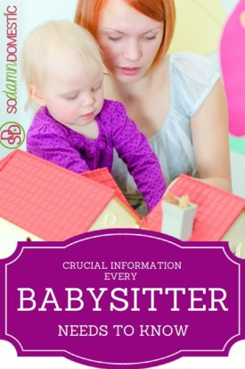 The Crucial Information Every Babysitter Needs to Know - Get on this!