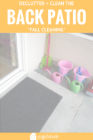 Do you do spring cleaning? Sure! But what about fall cleaning? This is the perfect time to spruce up your outdoor areas! Clean and declutter your back patio - here's how.